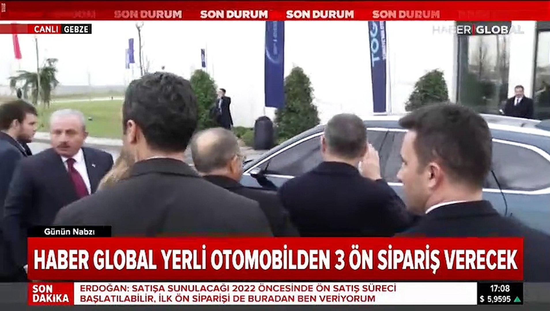 Erdoğan yerli otomobili test etti