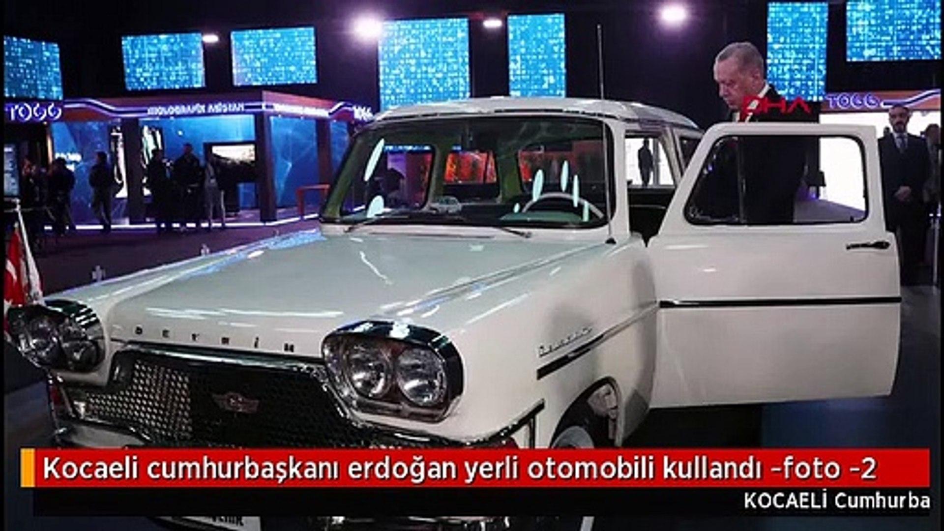 Kocaeli cumhurbaşkanı erdoğan yerli otomobili kullandı -foto -2