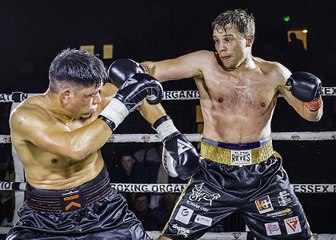 GO SPORTS: International Boxing  - Wilmer Gonzalez vs Tommy Jacobs at the Charter Hall, Colchester 15th December 2019