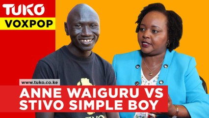 Stivo simple boy vs Waiguru | Tuko TV