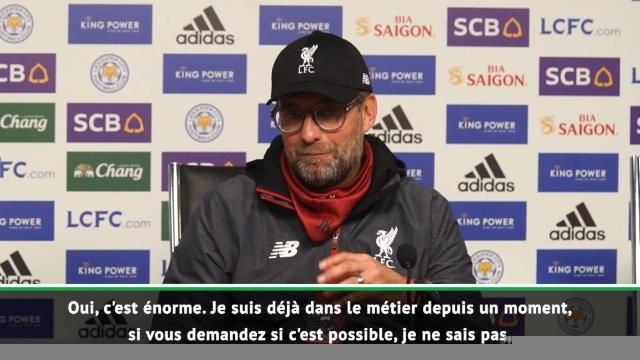"""Liverpool: 20e j. - Klopp:""""Egaler le record d'Arsenal ? Je ne sais pas si c'est possible"""""""
