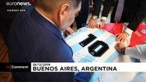Az argentin elnökkel találkozott karácsonykor Diego Maradona