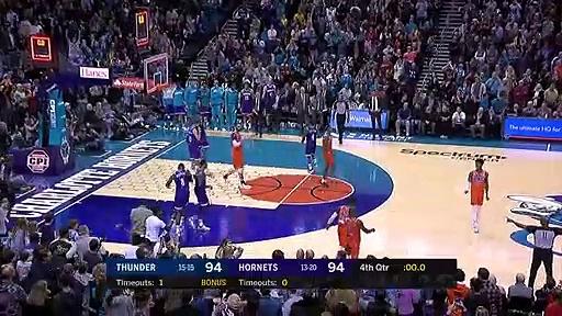 Oklahoma City Thunder 104 - 102 Charlotte Hornets