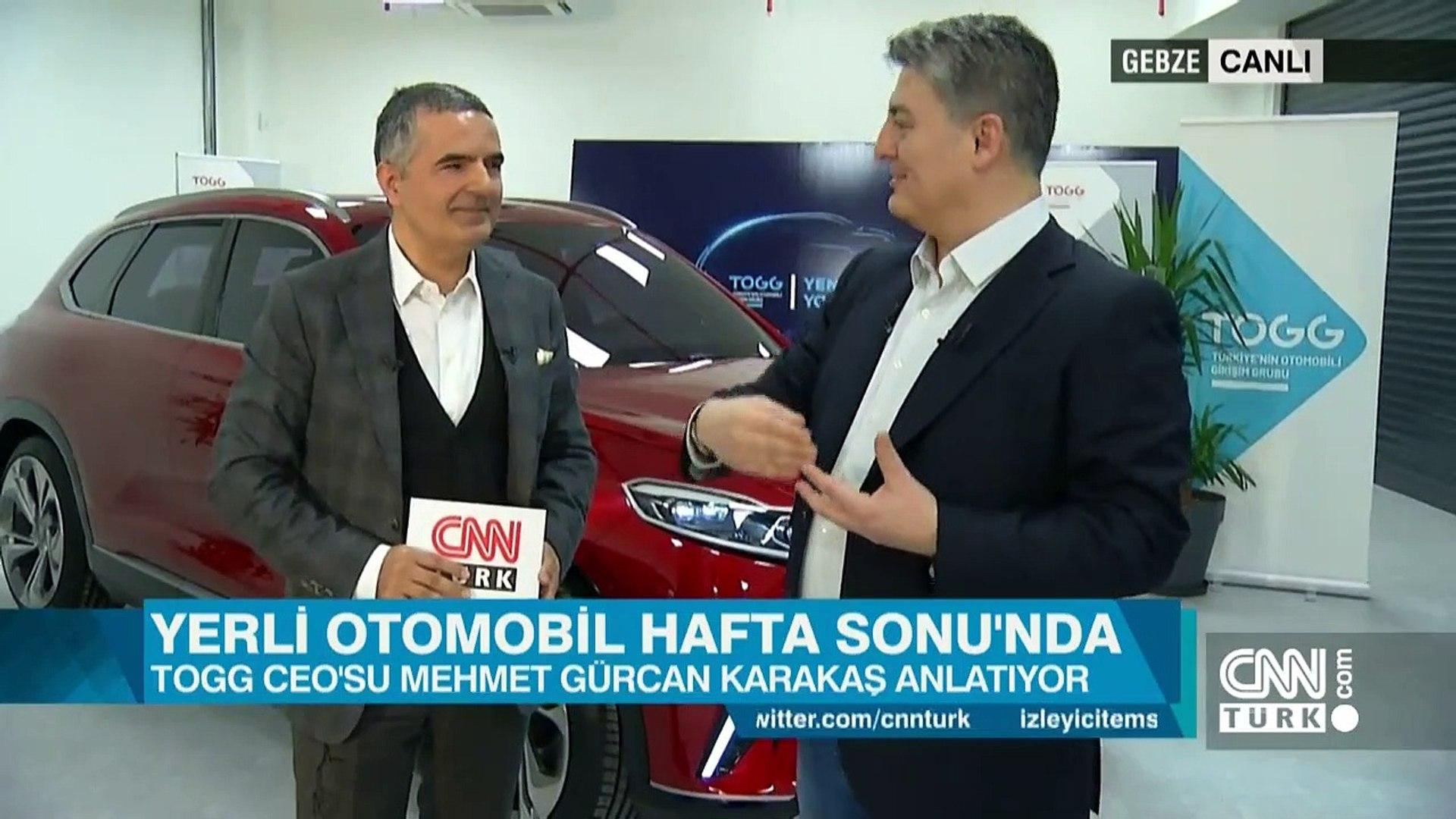 TOGG CEO'su Mehmet Gürcan Karakaş CNN TÜRK'te