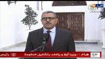 أول تصريح للوزير الأول  الجديد عبد العزيز جراد بعد تعيينه وتكليفه بتشكيل الحكومة خلال الأيام القادمة