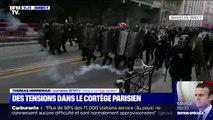 Manifestation contre la réforme des retraites: quelques tensions dans le cortège parisien
