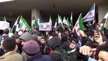 İdlib'deki saldırılar protesto edildi