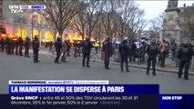 Réforme des retraites: la manifestation se disperse à Paris