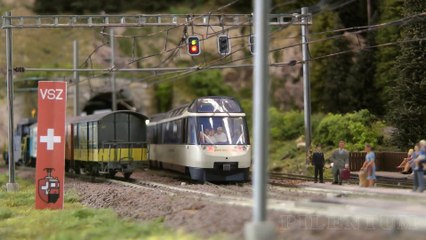 Trains in Switzerland: Model Railroad Layout by Modelspoor Vereniging Spoorgroep Zwitserland - Video by Pilentum Television about rail transport modeling, trains, model railroading, railway modelling, model railways and model railroads