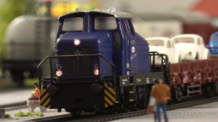 Model railroad layout by Marklin with German locomotives and trains in HO Scale - Video by Pilentum Television about rail transport modeling, trains, model railroading, railway modelling, model railways and model railroads