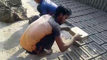 Awesome Worker Skills   Manual Bricks Making