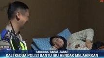 Lagi, Aksi Heroik Polisi Terobos Macet Bantu Ibu Hamil