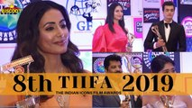 Hina Khan, Divyanka Tripathi & more stars attended 8th Tiifa The Indian Icon Film Awards 2019