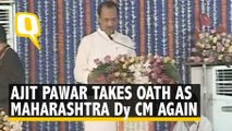 NCP's Ajit Pawar Takes Oath as Deputy Chief Minister of Maharashtra
