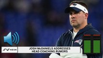 Josh McDaniels Addresses NFL Head Coaching Rumors In Conference Call