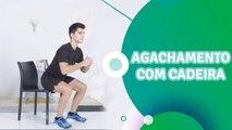Agachamento com cadeira - Sou Fitness