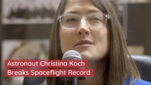 A New Record For Single Space Flight By A Woman