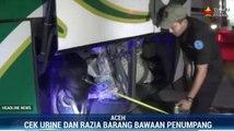 Petugas Razia Narkoba di Terminal Bus Banda Aceh