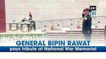 General Bipin Rawat pays tribute at National War Memorial