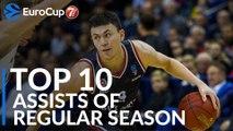 7DAYS EuroCup, Top 10 Assists of the Regular Season!