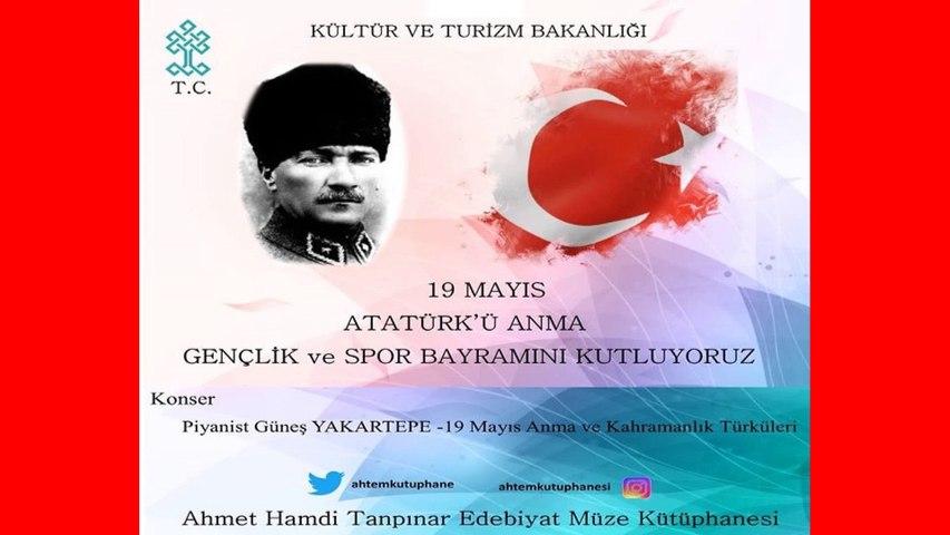 Piyano Türkü, Kırmızı Gülün Alı Var, Atatürk Sevdiği Türküler Şarkılar Marşlar Zeybekler Şarkı Sözü Piyanist Güneş Yakartepe Piano Konseri