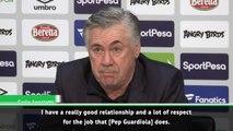 Ancelotti hails 'genius' Guardiola