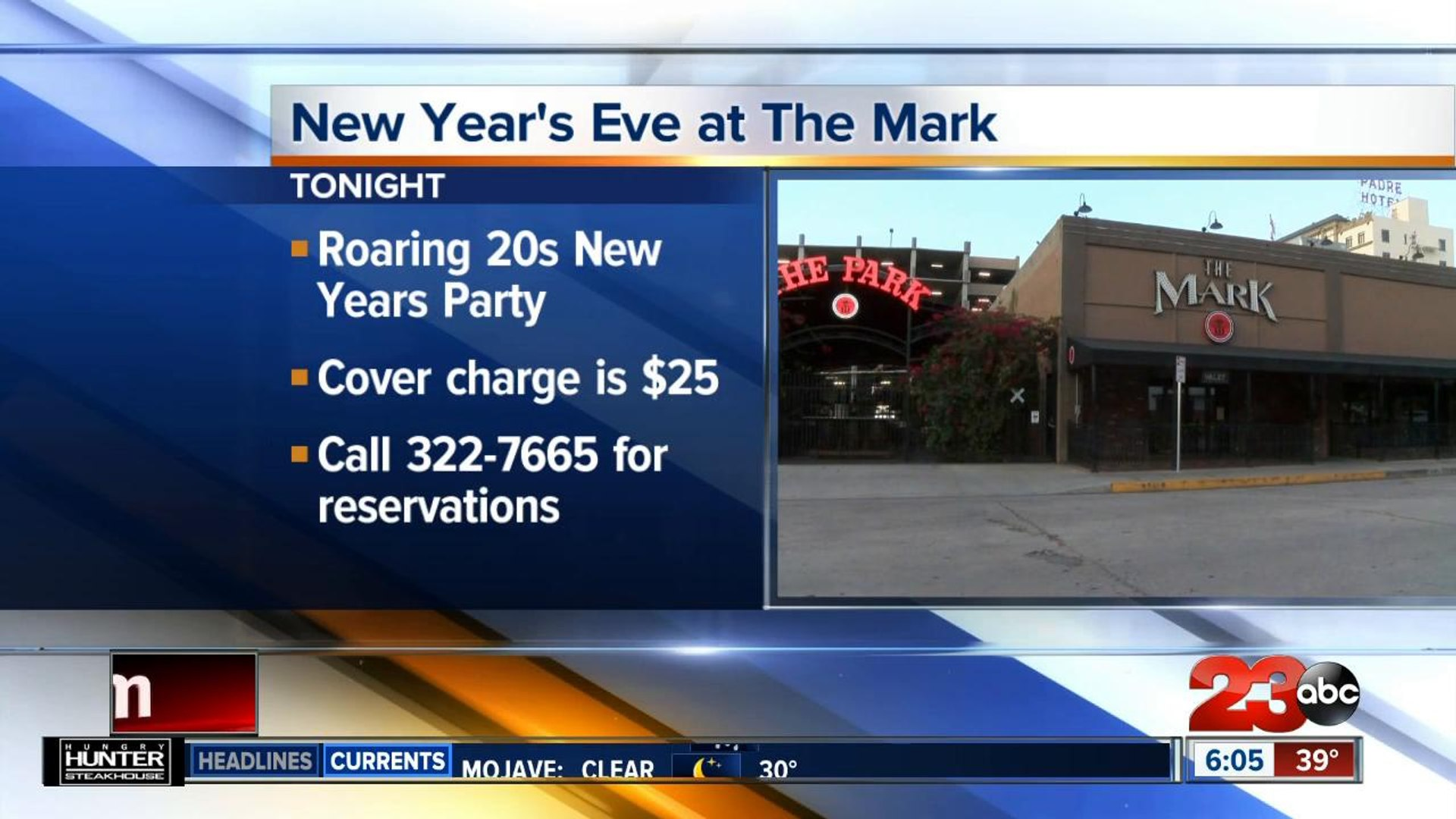 NYE Events around town