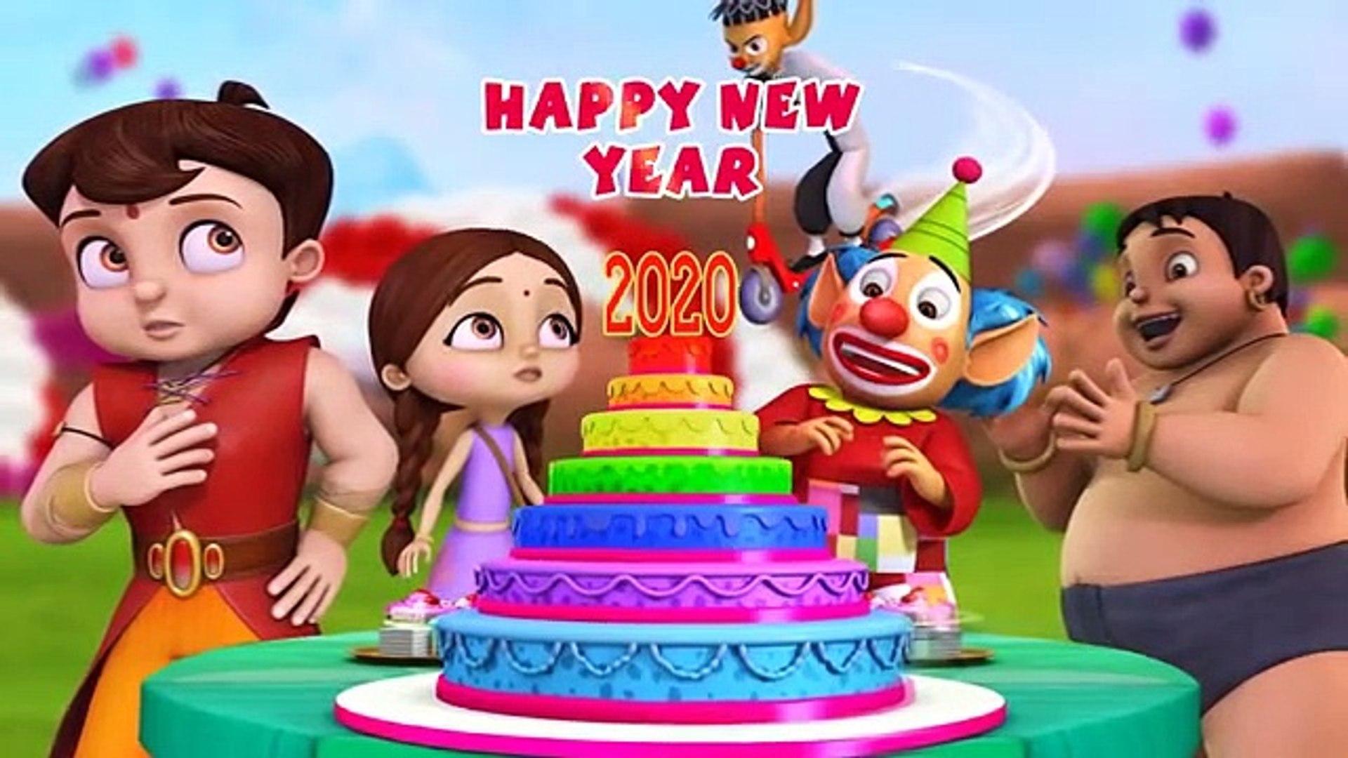 Super Bheem - The New Year Party 2020 - Hindi Cartoon for Kids - Bheem Cartoon Stories