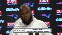 James White On Facing The Titans, Playoff Football For The Patriots
