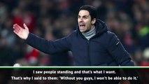 Arteta happy to see 'smiley faces' at Arsenal