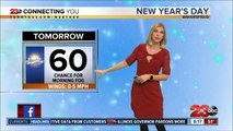 New Year's Eve evening forecast