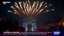 Les images de la fête à Paris pour l'entrée en 2020