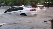 Video Viral Mobil BMW Terseret Banjir di Perumahan Laverde Serpong