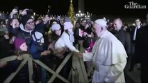 Pope Francis Angrily Slaps Woman's Hand As She Grabs And Pulls Him During New Year's Eve Greetings
