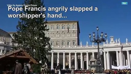 Pope Francis apologizes for 'losing patience' with worshipper