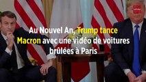 Au Nouvel An, Trump tance Macron avec une vidéo de voitures brûlées à Paris