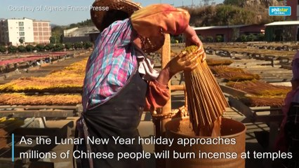 Chinese incense producers keep tradition's flame alight