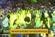 Costa Verde: Año Nuevo fue recibido con fuegos artificiales