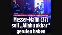 La police allemande a abattu un homme turc, armé d'un couteau, qui tentait d'attaquer deux policiers à Gelsenkirchen
