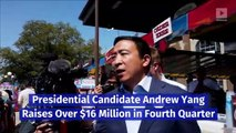 Presidential Candidate Andrew Yang Raises Over $16 Million in Fourth Quarter