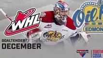 Oil Kings' Cossa named WHL Vaughn Goaltender of the Month
