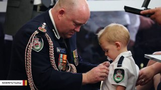 Australian Firefighter's Son Awarded Medal In Moving Moment At Funeral