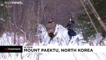 کیم جونگ اون با اسب سفیدش از نو در اه کوه مقدس