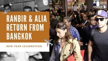 Ranbir & Alia return from Bangkok after new year celebration