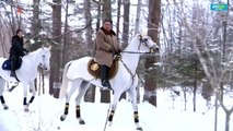 North Korean TV broadcasts video of Kim on horseback in winter snows