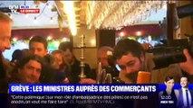 Grève: les ministres auprès des commerçants - 03/01
