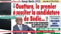 Le Titrologue du 03 Janvier 2020 : KKB, «Ouattara, le premier à susciter la candidature de Bédié…»