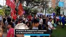 Protestas en La Plata por la no renovación de contratos municipales