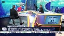 La France a tout pour réussir : Réforme du CICE, ordonnances de travail, selon Nicolas Doze, les raisons du recul du chômage - 03/01