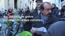 """Retraites: le leader de la CGT Philippe Martinez dénonce une """"cacophonie au gouvernement"""""""